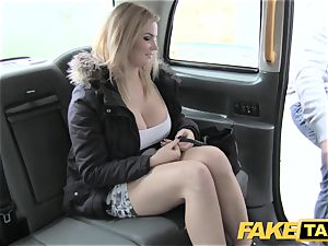 faux taxi thick congenital baps on blond model