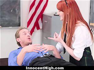 InnocentHigh - lovely ginger-haired schoolgirl romps Drama educator