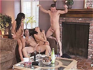 gang hook-up and Hangman with super-cute couples trio