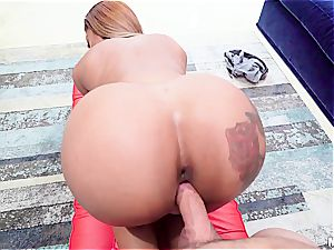 pounding black stunner makes incredible things with her magical ass
