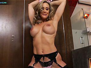 wonderful cougar Brandi love getting laid with Manuel Ferrera