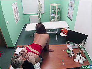 faux hospital marvelous bum patient with clean-shaven labia