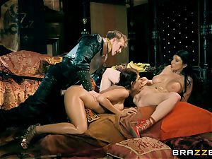 trio with Romi Rain and Ayda Swinger queen of thrones