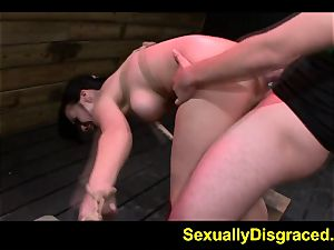 naughty Kimmy Lee shoved to climax