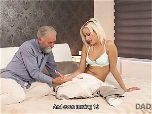 DADDY4K. damsel rides elder gentleman s joystick in parent pornography vid