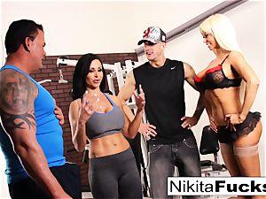 Nikita Von James joins a workout lovemaking