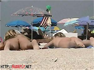 blondie model naturist on the bare beach voyeur flick