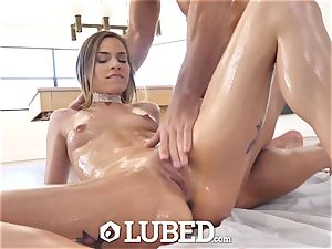greased Living apartment tear up and internal ejaculation with Sydney Cole
