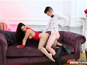 masked mistress Eva Lovia hanker cock
