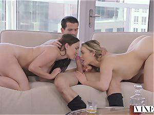 Lily enjoy and Mia Malkova in a super-sexy three way