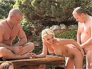 Outdoor hookup joy and pornography games scene four