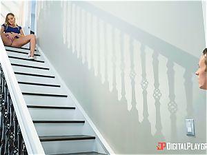 steamy stairway labia beaten Britney Amber