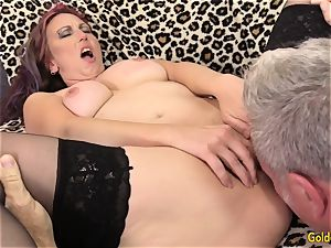 aged Zoe Matthews intensively pulverized