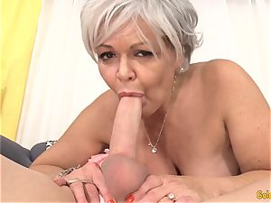 granny Kelly Leigh Is nasty for a man-meat