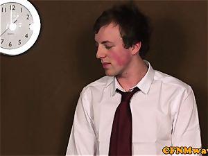 female dominance cfnm teacher humiliate guy in class