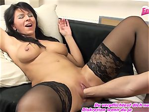 GERMAN milf fisting first-ever time utter arm in vagina
