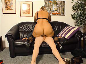 hardcore OMAS - stiff bang with blondie German grandmother
